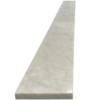 6 x 36 Saddle Threshold Italian White Carrara Marble Stone