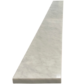 6 x 58 Saddle Threshold Italian White Carrara Marble Stone