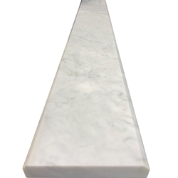 4 x 24 Saddle Threshold Italian White Carrara Marble Stone