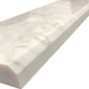 4 x 36 Saddle Threshold Italian White Carrara Marble Stone - IWC4X36