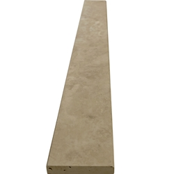4 x 24 Saddle Threshold Ivory Light Travertine Stone