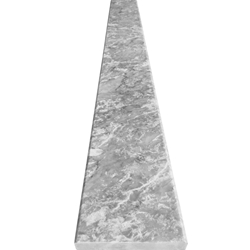 6 x 60 Saddle Threshold Light Grey Marble Stone