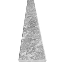 6 x 36 Saddle Threshold Light Grey Marble Stone
