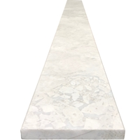 6 x 36 Saddle Threshold Moon White Carrara Marble Stone