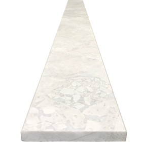 6 x 48 Saddle Threshold Moon White Carrara Marble Stone