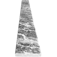 4 x 24 Saddle Threshold White Grey Marble Stone