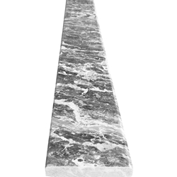 5 x 36 Saddle Threshold White Grey Marble Stone