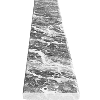 6 x 36 Saddle Threshold White Grey Marble Stone