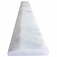 6 x 36 Hollywood Saddle Threshold White Marble Stone