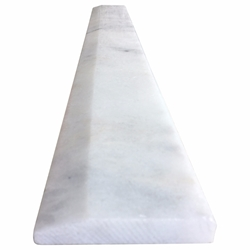 4 x 24 Hollywood Saddle Threshold White Marble Stone