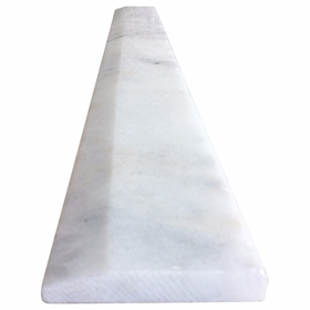 6 x 48 Hollywood Saddle Threshold White Marble Stone