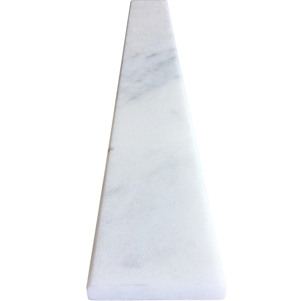 4 X 36 White Marble Saddle Threshold