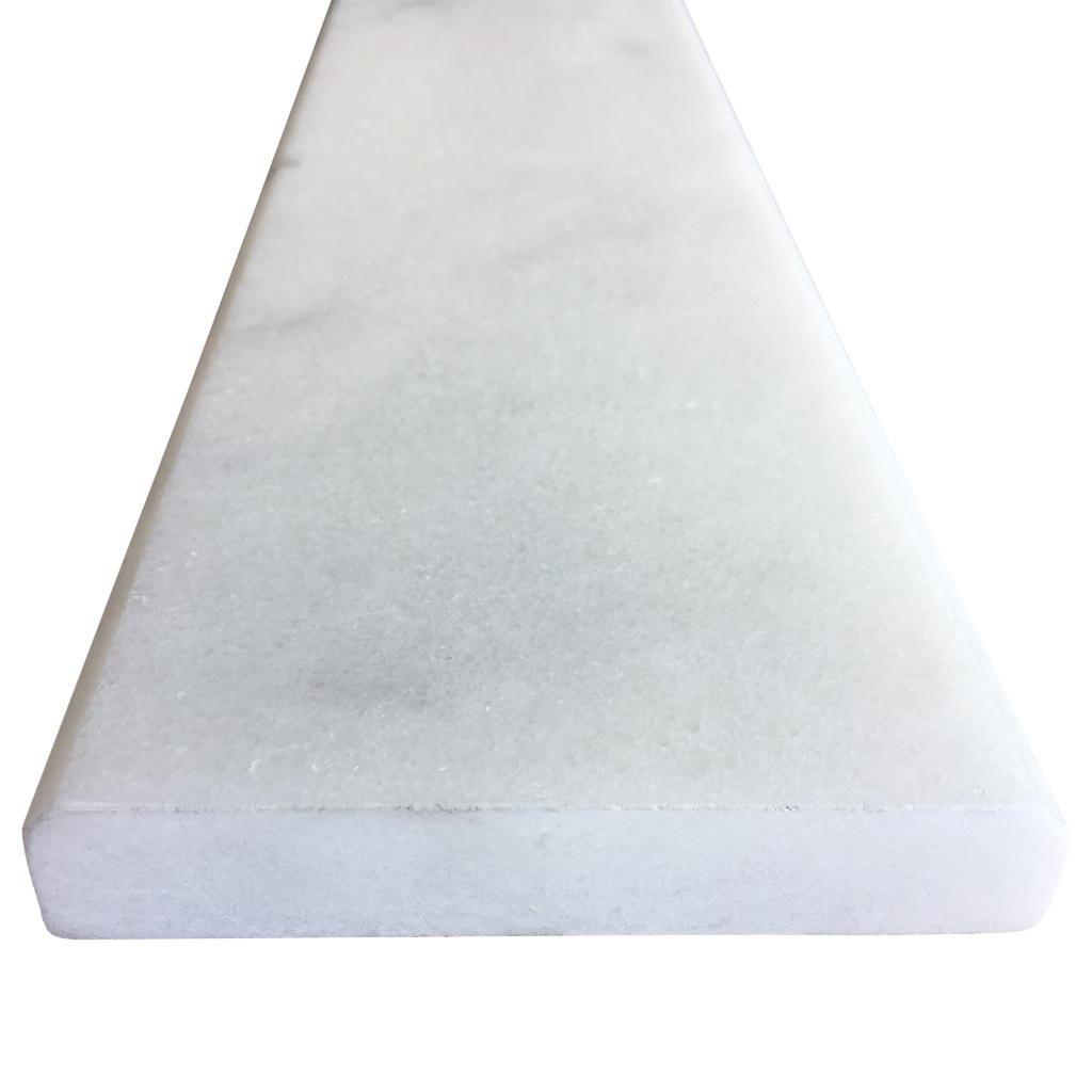 4 X 24 White Marble Saddle Threshold