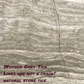 6 x 48 Saddle Threshold Wooden Grey Marble Stone