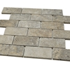 2 X 4 Mosaic Tile Silver Travertine Tumbled Honed - ST2391