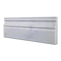 Baseboard Trim Molding Tile Asian Carrara Marble Polished