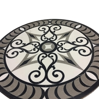 Medallion Waterjet Tile 24 inches Asian Carrara Marble Polished