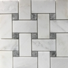 Basketweave Mosaic 2 inch Tile Asian Carrara Grey Marble Polished - ACB4322G