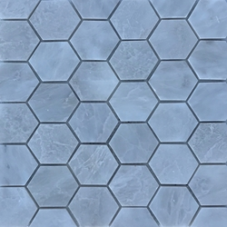 2 Inch Hexagon Mosaic Tile Whole Blanc Carrara Marble Polished