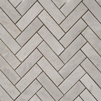Herringbone Mosaic Tile Whole Blanc Carrara Marble Polished