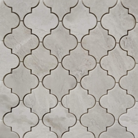 Lantern Arabesque Mosaic Tile Whole Blanc Carrara White Marble